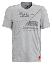 Gore Running Wear Elements Sports Shirt Melange Grey Mottled Grey