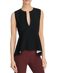 Theory Peplum Top Black White