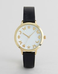 Asos Novelty Marker Dial Watch Black