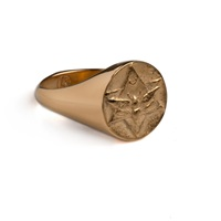 Rachel Entwistle The Lunar Signet Ring Gold
