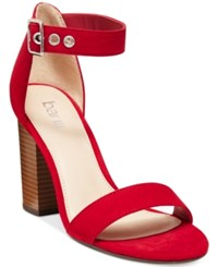 Bar Iii Mikayla Block Heel Sandals Only At Macy's Women's Shoes Red
