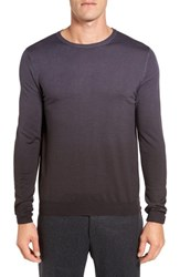 Pal Zileri Men's Merino Wool Ombre Crewneck Sweater