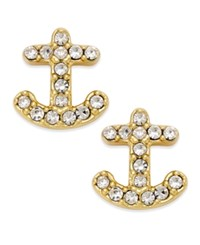 Kate Spade New York 14K Gold Plated Pave Anchor Stud Earrings
