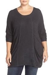 Melissa Mccarthy Seven7 Plus Size Women's Slouchy Pocket Tunic Heather Grey