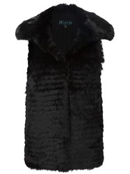 Jocelyn Rabbit Fur Panel Gilet Black