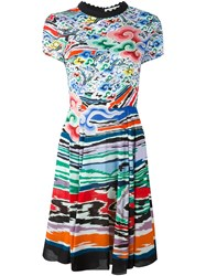 Mary Katrantzou Rainbow Cloud Fit And Flare Dress Multicolour