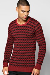 Boohoo Colour Knitted Sweater Wine