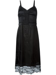 Marc Jacobs Lace Trim Slip Dress Black