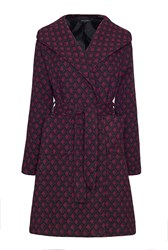 James Lakeland Pattern Coat With Hood Red