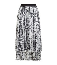 Escada Sport Pleated Layered Midi Skirt Female White