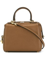Dolce And Gabbana Mini 'Miss Sicily' Bowler Tote Brown