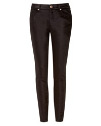 Ted Baker Velvet Skinny Denim Trousers Black