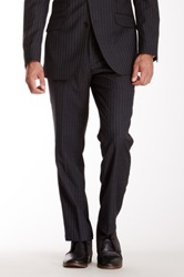 Ben Sherman Gray And Blue Pinstripe Wool Suit Separates Pant