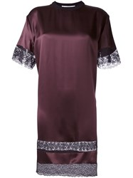 Givenchy Lace Insert T Shirt Dress Pink And Purple
