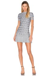 Lolitta Joana Zig Zag Mini Dress Metallic Silver