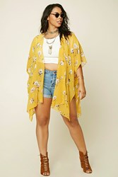 Forever 21 Plus Size Floral Print Cardigan