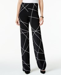 Alfani Printed Wide Leg Knit Pants Only At Macy's Layered Lines