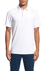 Ag Jeans Men's Ag 'Union' Raglan Pique Polo Bright White