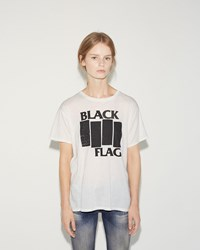 R 13 Black Flag Zip Tee White