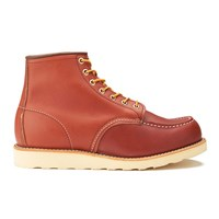 Red Wing Shoes Red Wing Men's 6 Inch Moc Toe Leather Lace Up Boots Oro Russet Portage Burgundy Red