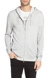 John Varvatos Men's Star Usa Herringbone Stitch Zip Hoodie