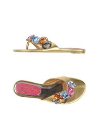 Poetic Licence Thong Sandals Gold