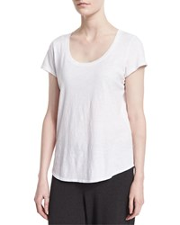Eileen Fisher Slubby Short Sleeve Scoop Neck Tee Women's African Violet