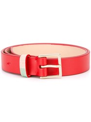 Paul Smith Classic Belt Red