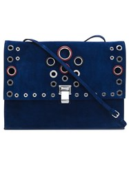 Proenza Schouler Large 'Lunch' Clutch Blue