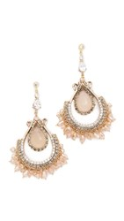 Theia Jewelry Madison Earrings Gold Pink