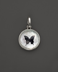 Ippolita Sterling Silver Butterfly Charm In White Shell And Black Onyx Bloomingdale's Exclusive