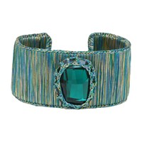 Boks And Baum New York Cuff Bracelet Emerald Spirit Green