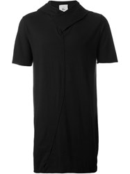 Lost And Found Rooms Hooded Long T Shirt Black