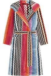 Missoni Home Stan Hooded Cotton Terry Robe Pink