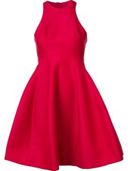Halston Heritage Cut Out Flared Dress