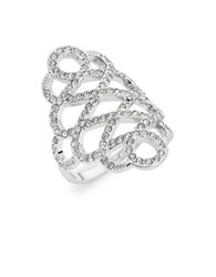 Michela Pave Filigree Cocktail Ring Silver
