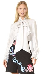 Temperley London Atlas Secretary Bow Blouse Ivory
