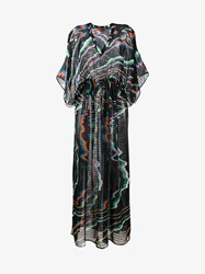 Missoni Printed Silk Kaftan Black Multi Coloured