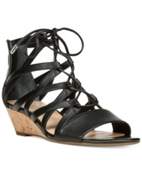 Franco Sarto Brixie Lace Up Ghillie Demi Wedge Sandals Women's Shoes