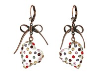 Betsey Johnson Multi Lucite Heart Drop Earrings Multi Earring