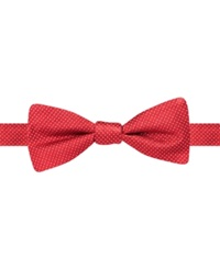 Ryan Seacrest Distinction Stardom Pindot Bow Tie Red