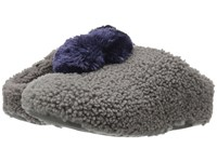 Fitflop House With Pom Poms Charcoal Women's Shoes Gray