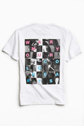 Urban Outfitters Uo Artist Editions Taylor Johnson Warm Hearts Tee White
