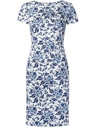 Carolina Herrera Floral Print Dress White