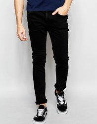 Adpt Acid Wash Skinny Fit Jeans With Stretch Black