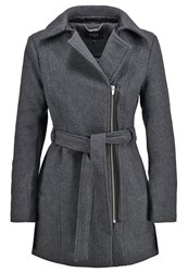 Vila Vidarling Short Coat Dark Grey Melange Mottled Dark Grey