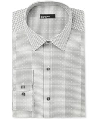 Bar Iii Men's Slim Fit Shadow Gingham Dot Dress Shirt Only At Macy's