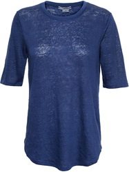 Vince Elbow Sleeve T Shirt Blue