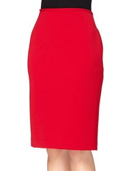 Tahari By Arthur S. Levine Solid Pencil Skirt Red