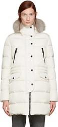 Moncler Ivory Fur And Down Fragonette Coat